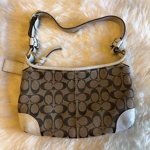Coach White/Tan Shoulder Bag #J0726-11430